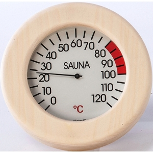 Thermomètre sauna rond avec...