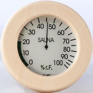 Hygromètre sauna rond avec...