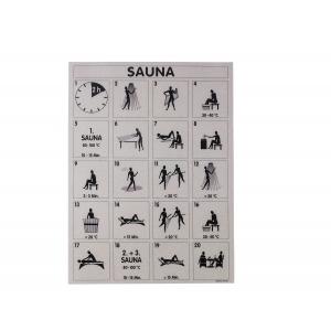 Affichette Sauna