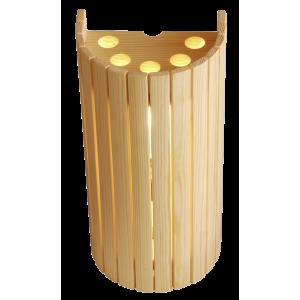 Abât-jour droit en bois
